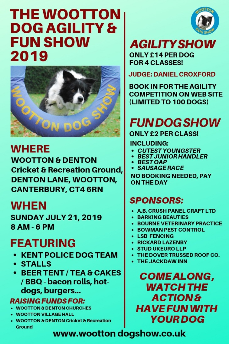 THE WOOTTON DOG AGILITY & FUN SHOW flyer